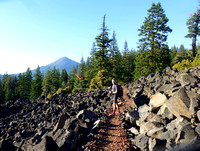 One of hundreds of lava fields - tough for trail builders