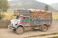 The Truck that makes Asia function.  This one is hauling potatoes to India.