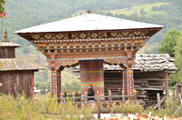 Prayer wheels of many types are part of every day life and prayers.